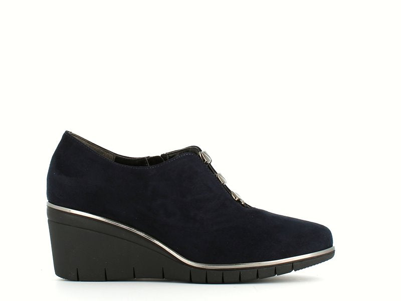 Comart Classic Wedge Shoe Navy