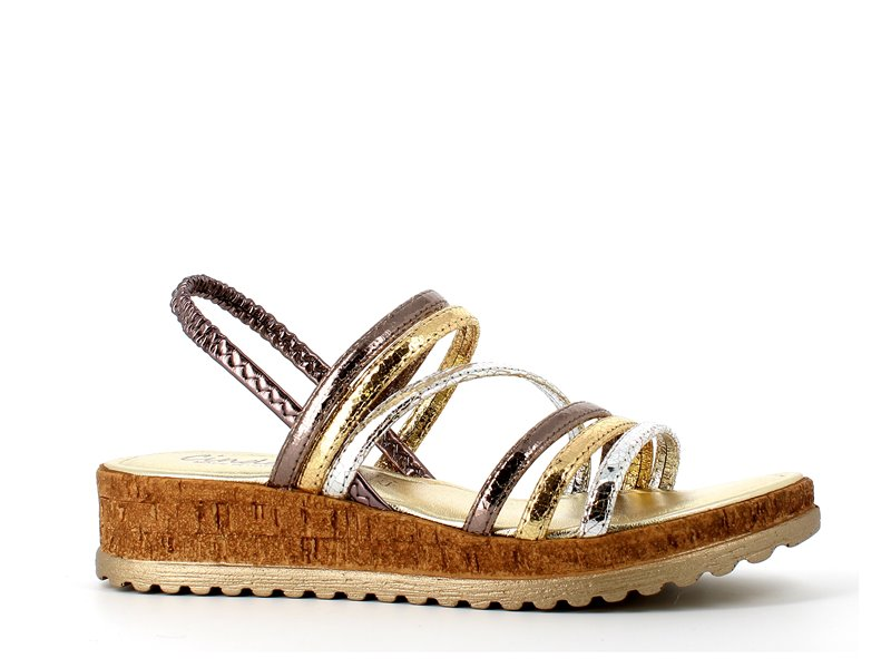 Cinders Cartier Sandal Gold/Pewter/Silver