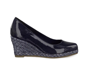 Marco Tozzi Wedge Patent Navy