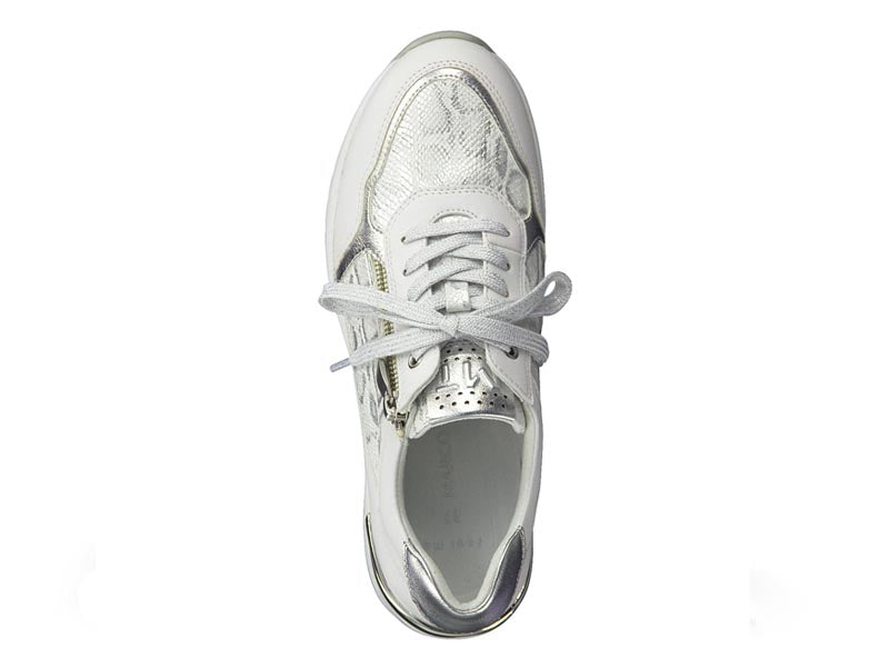 Marco Tozzi Wedge Trainer Snake Print White