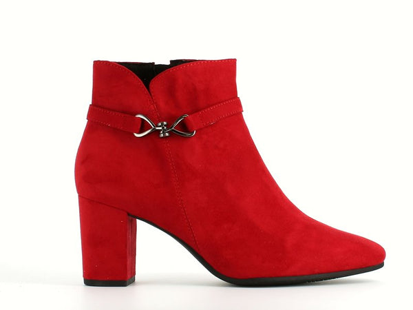 Marco Tozzi High Ankle Boot Red