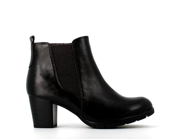Marco Tozzi Chelsea Heel Ankle Boot Black