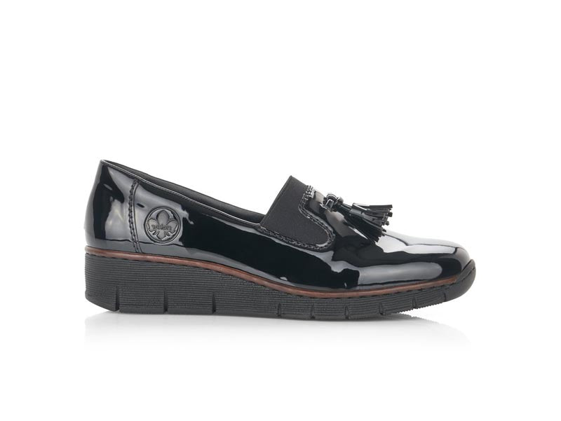 Rieker Toggle Loafer Patent Black