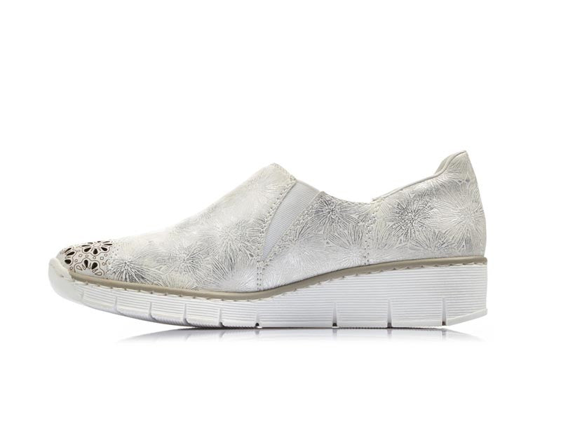 Rieker Casual Shoe White/Sand