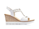 Rieker Platform Wedge White