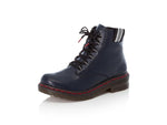 Rieker Chunky Laced Boot Navy