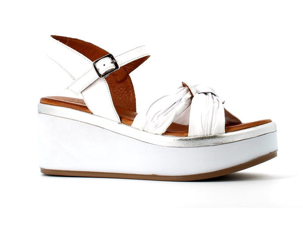 Cinders Leather Sandal White/Silver
