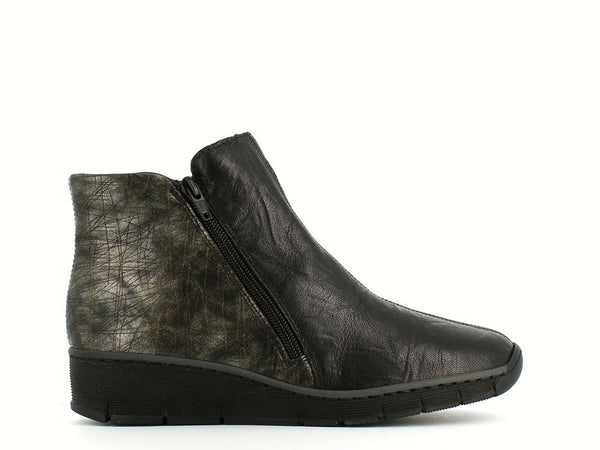 Rieker Ankle Boot Blk/Grey