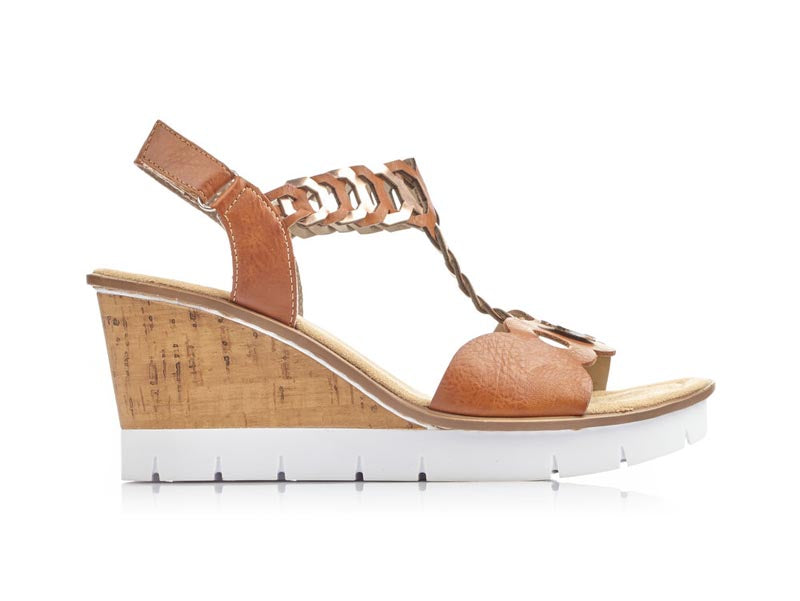 Rieker High Tan Wedge