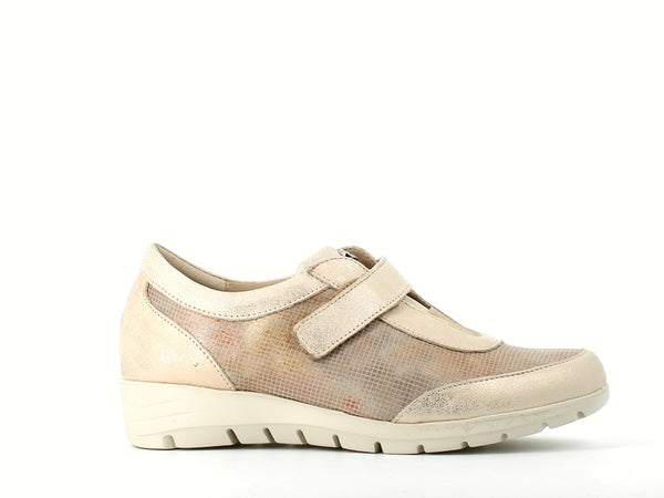 Pitillos Velcro Trainer Cream Gold