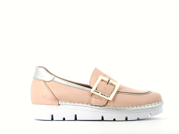 Jose Saenz Loafer with Buckle Rosa