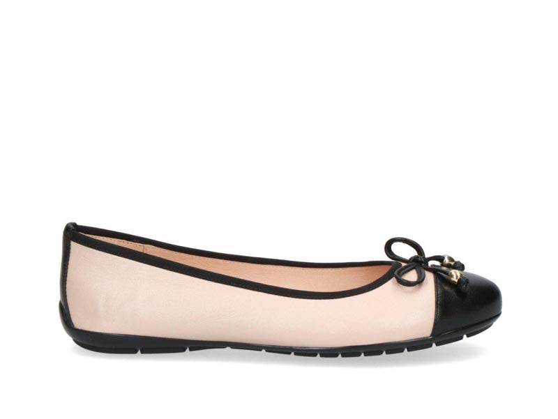 Caprice Classic Pump with Bow Beige/Black