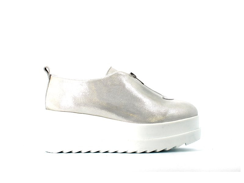 Cinders Stell Trainer Pearlised White
