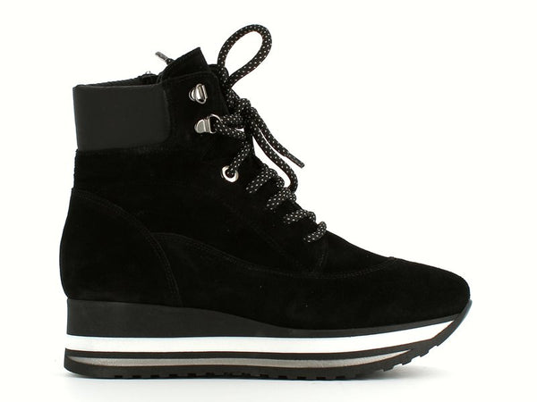 Comart Laced Casual Boot Black