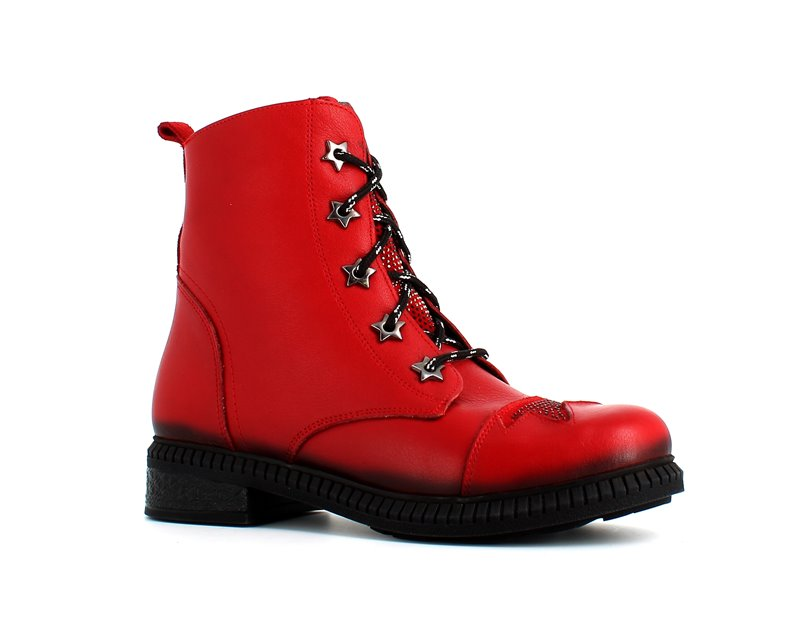 Cinders Star Ankle Boot Red