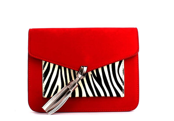 Menbur Black/Zebra/Red Handbag