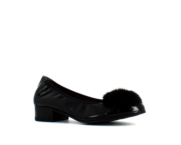 Pitillos Faux Fur Pump Black