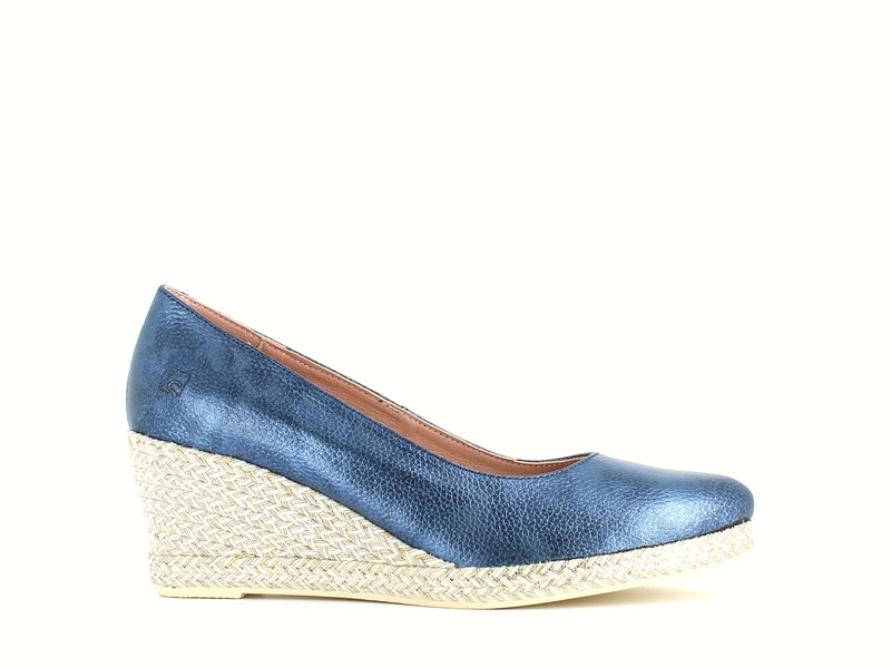 Jose Saenz Classic Wedge Navy