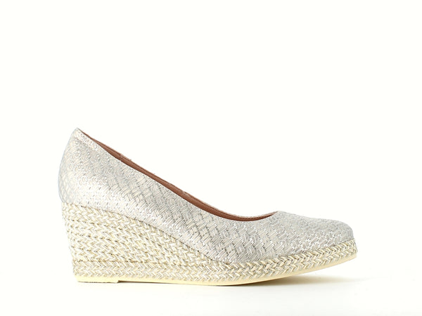 Jose Saenz Classic Wedge Silver