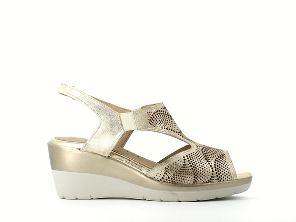 Pitillos T-Bar Sandal Gold