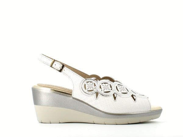 Pitillos Wedge Sandal White