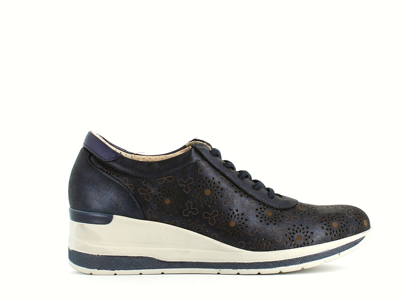 Pitillos Floral Trainer Navy