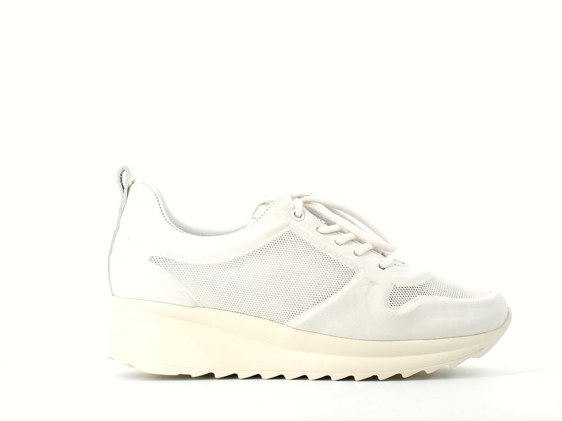 Cinders Leather Trainer White