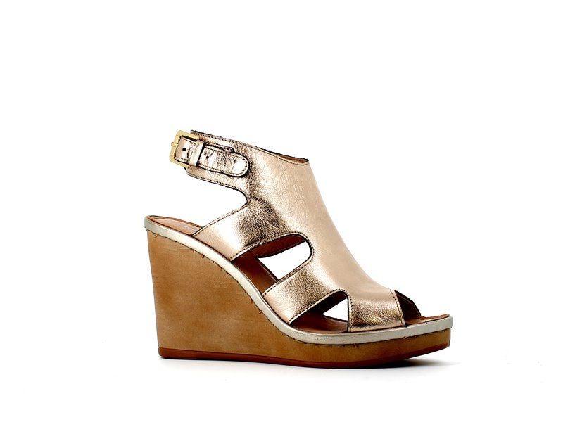 Rizzoli Wash Platino Wedge Sandal