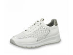 Jana Summer Trainer White Silver