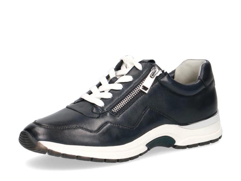 Caprice Classic Leather Trainer Navy