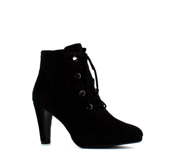 Caprice Laced Ankle Boot Black