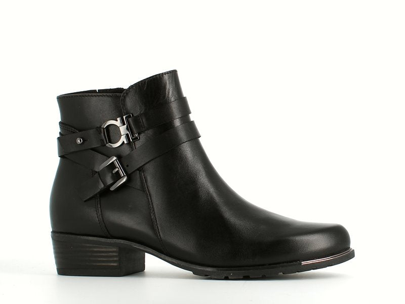 Caprice Ankle Boot Black Leather