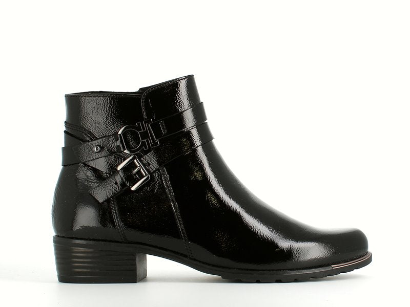 Caprice Ankle Boot Black Patent