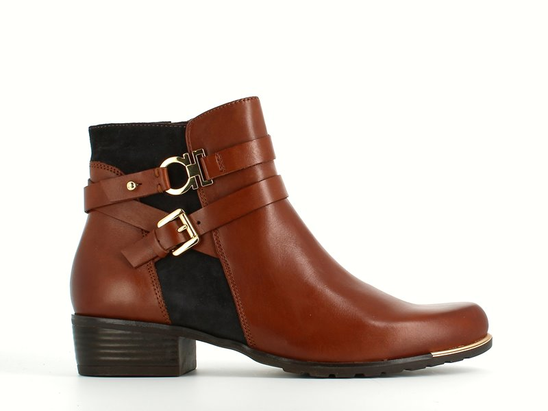 Caprice Ankle Boot Brandy/Ocean