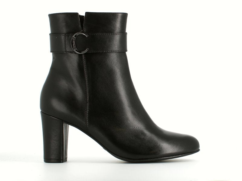 Caprice High Leather Ankle Boot Black