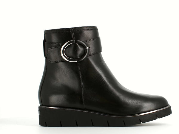 Caprice Wedge Ankle Boot Black