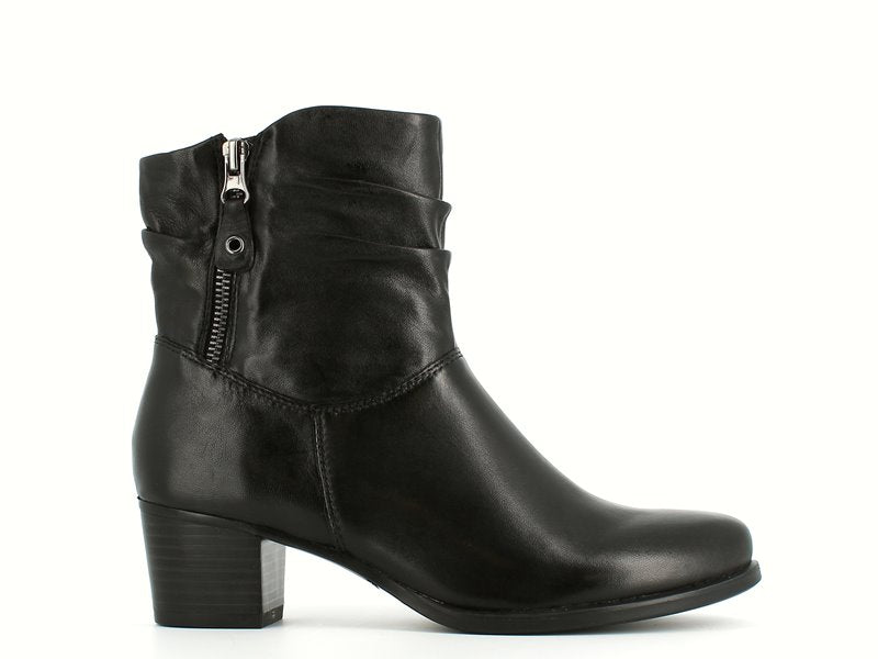 Caprice Slouch Ankle Boot Black