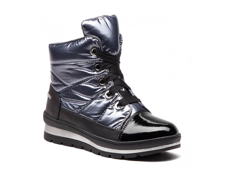 Caprice Snow Boot Silver/Black