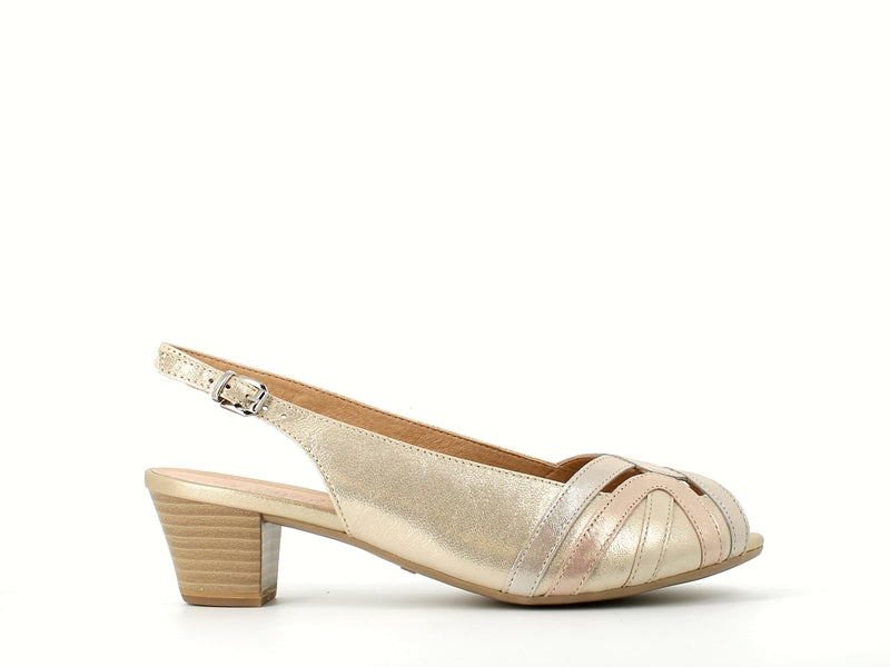 Caprice Slingback Light Gold
