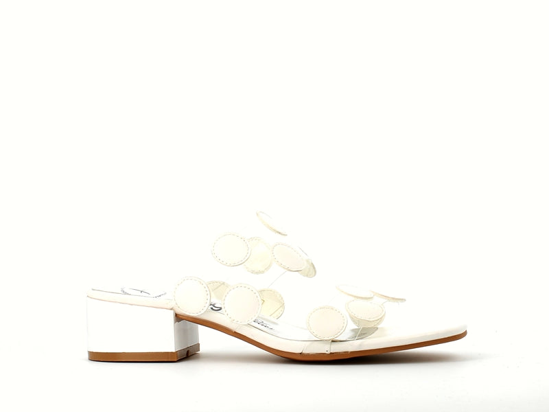 Betsy Perspex Sandal White