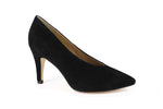 Caprice Black Suede Court