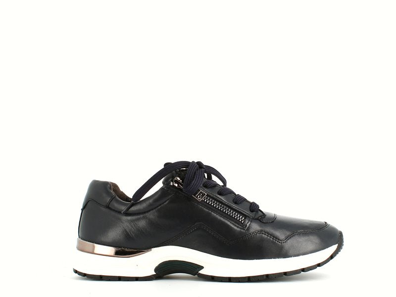 Caprice Leather Trainer Navy