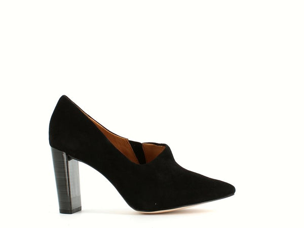 Caprice High Shoe Black Suede