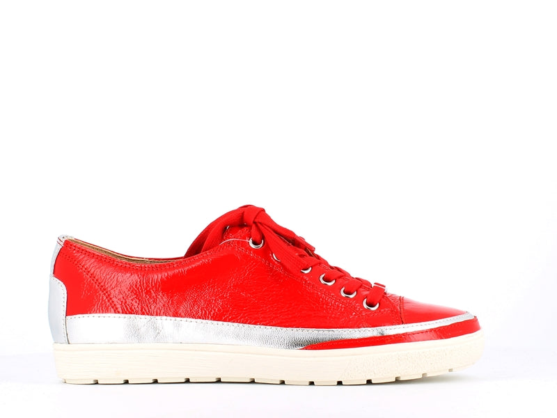 Caprice Patent Sneaker Red