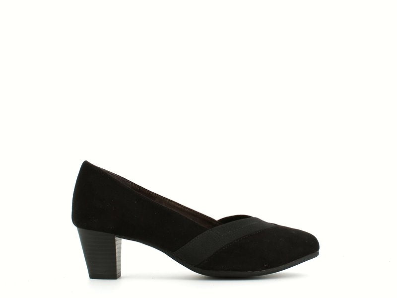 Jana Mid Heel Court Black