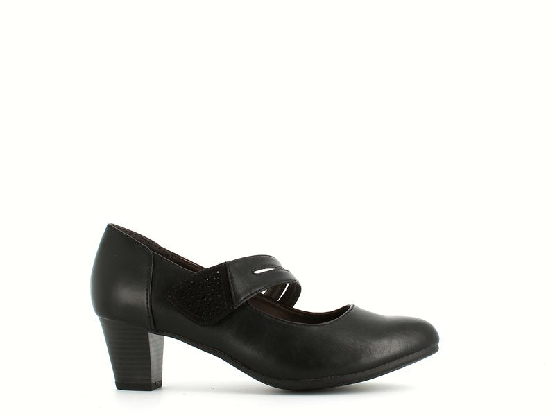 Jana Velcro Mary Jane Black