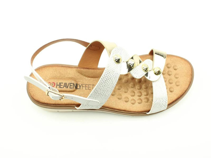 Heavenly Feet Juliet White/Gold