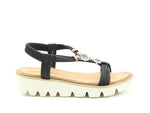 Heavenly Feet Leona Sandal Black