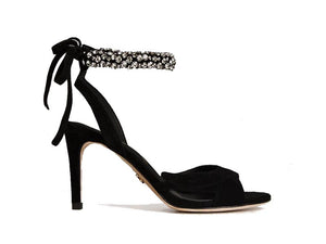 Lola Cruz Diamante Ankle Strap Sandal