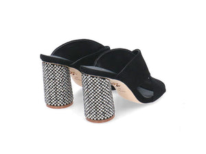 Lola Cruz Diamante Heel Sandal